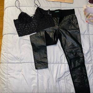Ralph Lauren Faux Leather Pants
